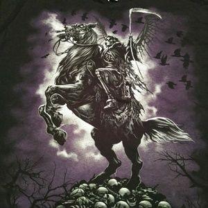Delta Shirts - Liquid Blue Grim Reaper Tee